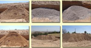 Tipos de arena de la cantera