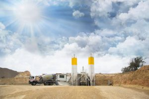 La industria cementera y planta de hormigón